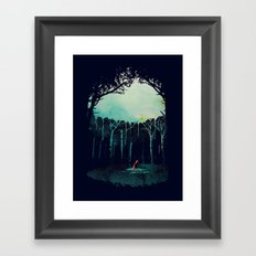 Deep in the forest Framed Art Print