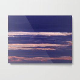 Pink Purple and Blue Clouds Metal Print