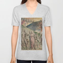 "William Blake ""The Schismatics and Sowers of Discord: Mohammed"" Unisex V-Neck"