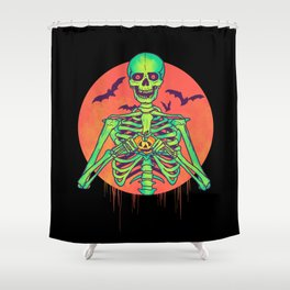 I Love Halloween Shower Curtain