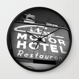 City Motor Hotel Wall Clock
