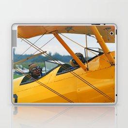 Oldtimer yellow plane Laptop & iPad Skin