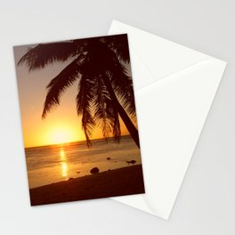 Cook Islands sunset Stationery Cards