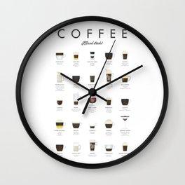Coffee Chart - Mixed Drinks Wall Clock