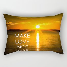Make Love Not War Rectangular Pillow