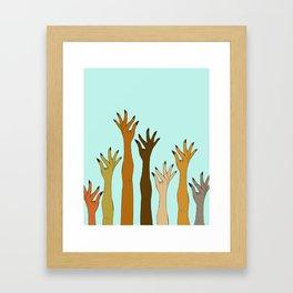 Hands Don't Judge - Size Don't Matter ... NOT! ;) Framed Art Print