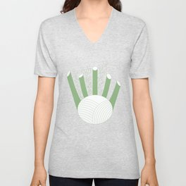 Green Fennel Unisex V-Neck