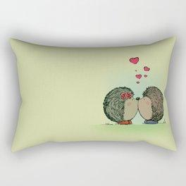 Hedgehogs in love Rectangular Pillow