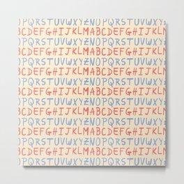 Capital Alphabet Pattern Metal Print
