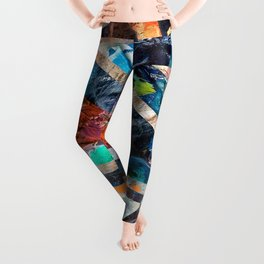 Triangle Forest Abstract Rainbow Leggings