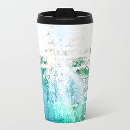 Abstract Blue Water Ocean Metal Boat Grime Travel Mug