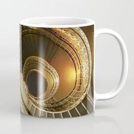 Golden and brown spiral stairs Coffee Mug