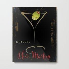 Olive Martini Metal Print