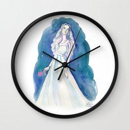 Blue Maiden Wall Clock