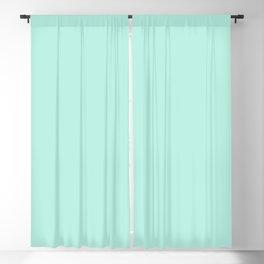Florida Aqua Solid Color Block Blackout Curtain
