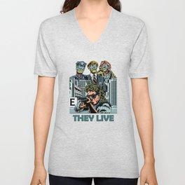 """John Carpenter's """"They Live"""" Unisex V-Neck"""