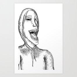 Monster in a Hoodie Art Print