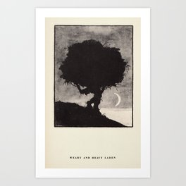 """Weary and Heavy Laden"" from ""Trees at Night"" by Art Young Art Print"