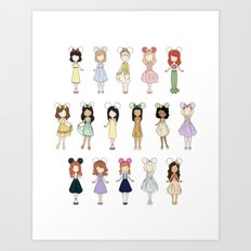 Princess Bounding Art Print