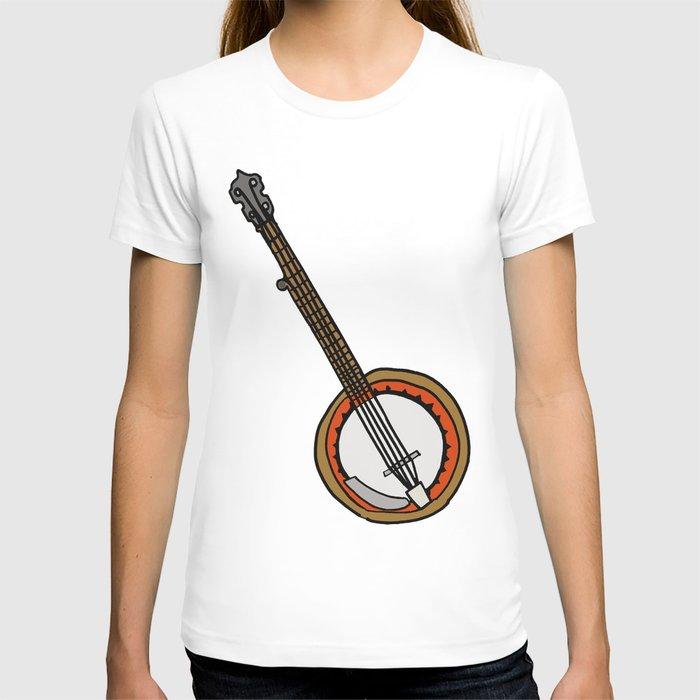 B is for Banjo, typed. T-shirt