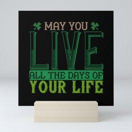 St Paddy - Luck Of The Irish - Quote 31 Mini Art Print
