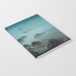 Ocean waves against the rocks Notebook
