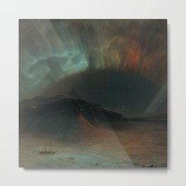 'Aurora Borealis' (Frederic Edwin Church) Metal Print