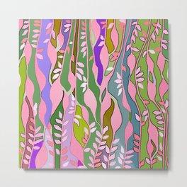 Long colored leaves Metal Print
