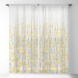Sunflower Field Sheer Curtain