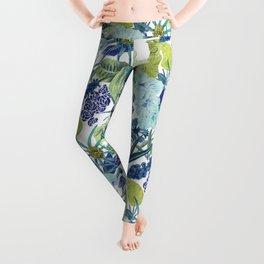 FLOWERPOWER (BLUE) Leggings