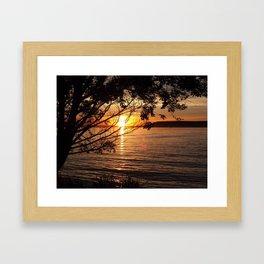 CJ Strike, Idaho Sunset Framed Art Print