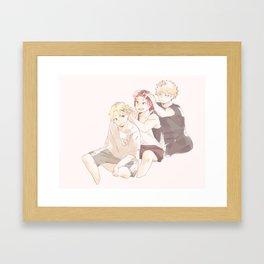 Summer Bros - BNHA Framed Art Print