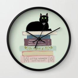 Books & Cats Wall Clock