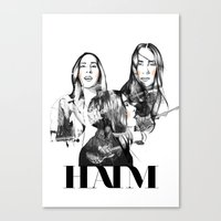 haim Canvas Prints featuring Haim the band by Mariam Tronchoni