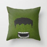 hulk Throw Pillows featuring Hulk by Liquidsugar
