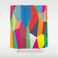 dots Shower Curtains featuring Dots by Joe Van Wetering