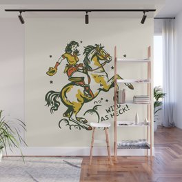 """""""Wild As Heck"""" A Cowgirl & Her Horse Wall Mural"""