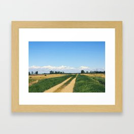 Back Road Framed Art Print