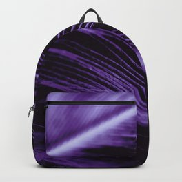 Purple Ultraviolet Feather close up Backpack