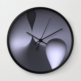 the color white Wall Clock