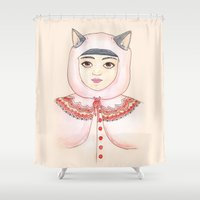 robin hood Shower Curtains featuring Hood by Juliette Dudley