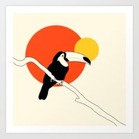 toucan Art Prints featuring Toucan by Rebekhaart