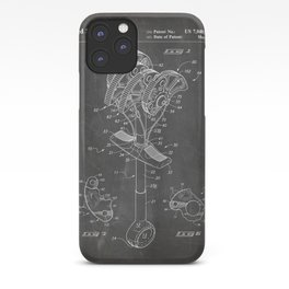 Climbing Anchor Patent - Rock Climber Art - Black Chalkboard iPhone Case