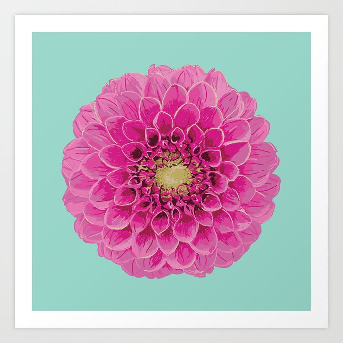 Dahlia (Part of a Triptych) Art Print