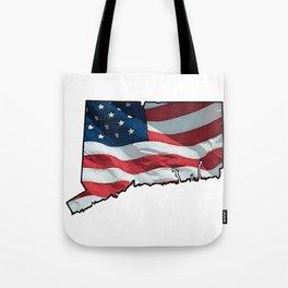 Patriotic Connecticut Tote Bag