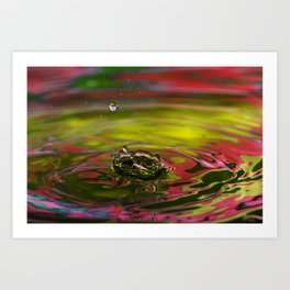 Anticipation - Emotions Water Drop Photography Art Print