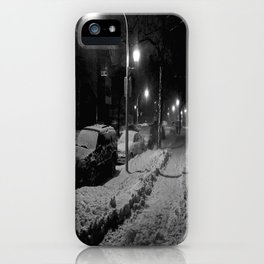 Chicago in Snow: A Study in White and Black #2 (Chicago Winter Collection) iPhone Case