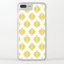 Mid Century Modern Bang Pattern 272 Must Yellow Clear iPhone Case