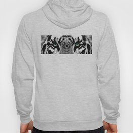 Dressed To Kill - White Tiger Art By Sharon Cummings Hoody
