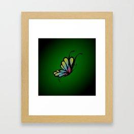 Mosaic Butterfly on Emerald Green Framed Art Print
